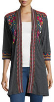 Johnny Was Eeren Embroidered Duster Cardigan, Plus Size