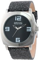 Kenneth Cole Reaction Unisex RK1287 Street Collection Black Dial Watch