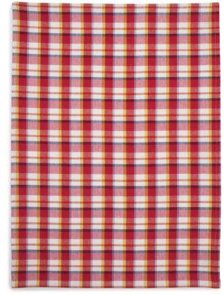 Sur La Table Colorful Plaid Kitchen Towel