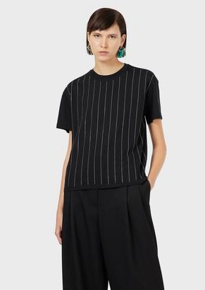 Emporio Armani Striped Jersey T-Shirt