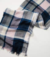 LOFT Frayed Plaid Scarf