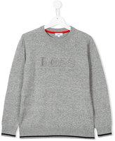 Boss Kids - logo embroidered jumper - kids - Cotton - 16 yrs
