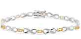 Ice 2 1/4 CT TW Sterling Silver Citrine and White Diamond Tennis Bracelet