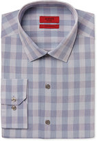 Alfani Men's Fitted Performance Teal Oversized-Gingham Dress Shirt, Only at Macy's