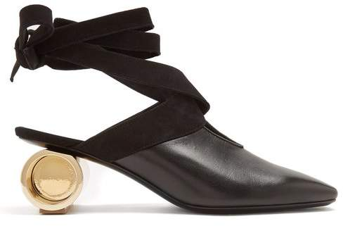 J.W.Anderson Cylinder Heel Leather Mules - Womens - Black