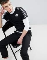 Kappa T-Shirt With Banda Taping In Black
