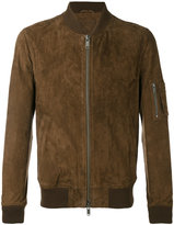 Desa Collection - bomber jacket - men - Cotton/Leather - 46