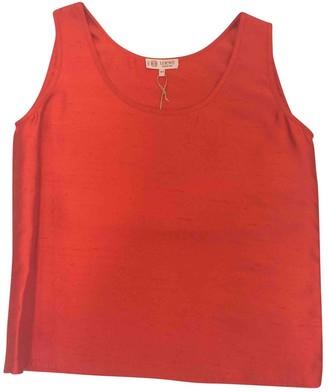 Loewe Orange Silk Top for Women Vintage