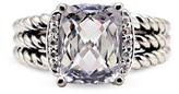 Thumbnail for your product : David Yurman Petite Wheaton Ring (White Topaz and Diamonds) - Size 5.5