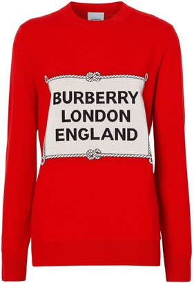 Burberry Rigging intarsia jumper