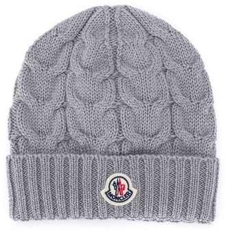 Moncler Enfant Ribbed Knit Wool Beanie