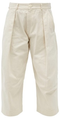Toogood The Tinker Cropped Cotton Trousers - Cream
