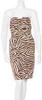 Kate Spade Zebra Pattern Strapless Dress