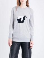 Loewe Panda-knitted wool jumper