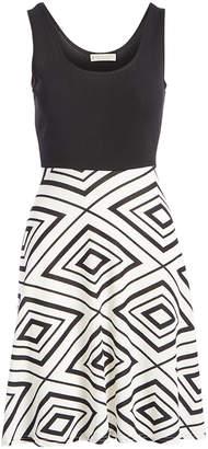 Jon & Anna jon & anna Women's Casual Dresses Black/White - Black & White Diamond A-Line Dress - Women