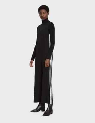 Which We Want Women's Izzie Side Stripe Jumpsuit in Black, Size Medium | Spandex
