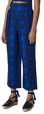 Whistles Plaid Cropped Pants