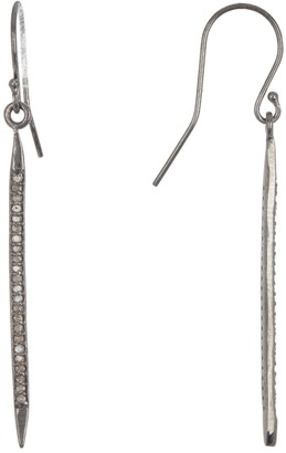 Adornia Fine Sterling Silver Pave Diamond Spike Drop Earrings - 0.5 ctw