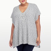 NYDJ Lace Up Poncho In Plus