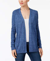 Karen Scott Cotton Marled-Knit Open Cardigan, Created for Macy's