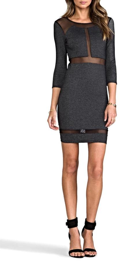 Donna M Paneled Mesh Dress
