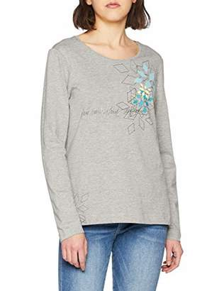 Blue Seven Women's Damen-Langarmshirt Von Mit Front-Druck T-Shirt,(Size: 38)