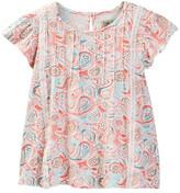 Lucky Brand Paisley Flutter Sleeve Top (Big Girls)