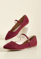 Legend Footwear Inc All You've Ever Jaunted Mary Jane Flat in Wine