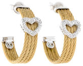 Charriol Classique Diamond Heart Earrings