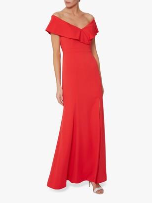 Gina Bacconi Maira Crepe Maxi Dress