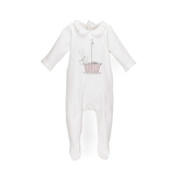 Chloé Baby Girl's Graphic Footie - Off White