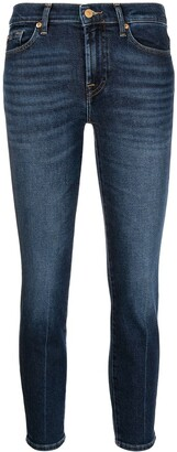 7 For All Mankind Cropped Slim-Fit Jeans