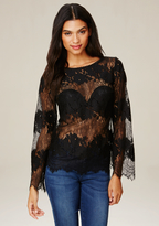 Bebe Placed Lace Top