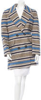Yigal Azrouel Wool Striped Coat