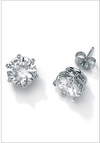 CZ Platinum/Silver Earrings