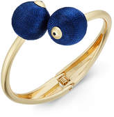 INC International Concepts Gold-Tone Thread-Wrapped Ball Bypass Bracelet, Created for Macy's