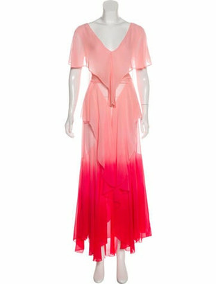 ATTICO Silk Maxi Dress w/ Tags Pink