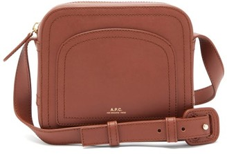A.P.C. Louisette Smooth-leather Cross-body Bag - Tan
