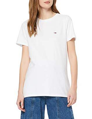 Tommy Jeans Women's TJW Tommy TEE T-Shirt, (Classic White 100), XS