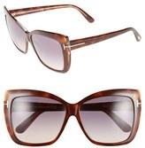 Tom Ford Women's 'Irina' 59Mm Sunglasses - Blonde Havana / Gradient Brown