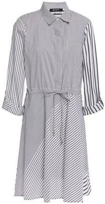 DKNY Striped Cotton-blend Poplin Shirt Dress