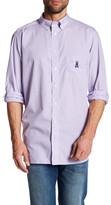 Psycho Bunny Micro-Check Long Sleeve Regular Fit Shirt