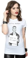 Justin Bieber Women's What Do You Mean T-Shirt Small White