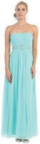 May Queen - MQ635 Strapless Pleated Bodice A-Line Gown