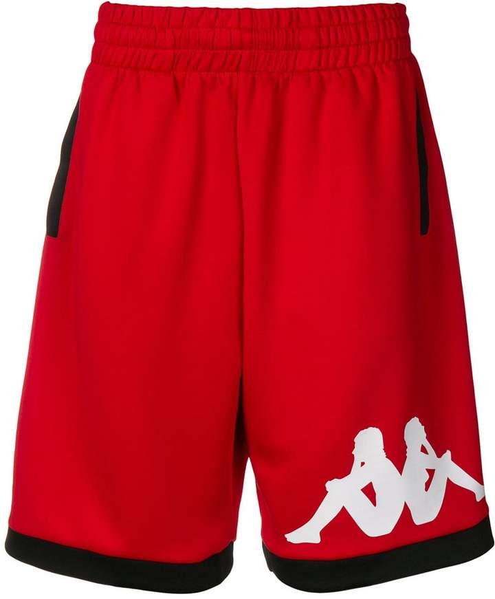 Kappa logo print track shorts