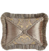 """Dian Austin Couture Home Winter Twilight Ruched Silk Pillow, 12"""" x 24"""""""