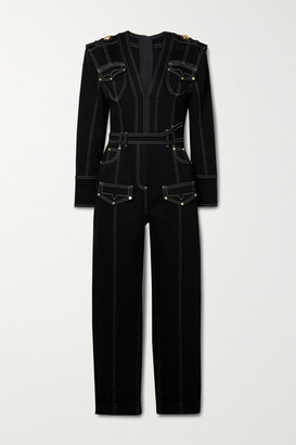 Balmain Denim Jumpsuit - Black