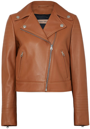 Yves Salomon Quilted Leather Biker Jacket