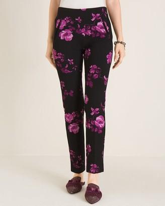 So Slimming Juliet Floral-Print Ankle Pants