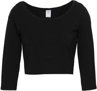 Calvin Klein Underwear Cropped Stretch-cotton Jersey Pajama Top